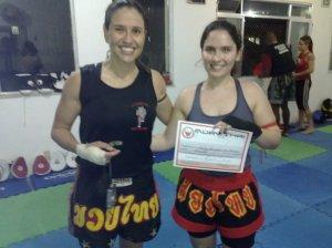 Graduação no Muay Thai.