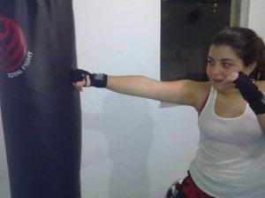 Letícia treinando