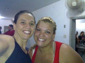 Eu e Tathi depois do treino.